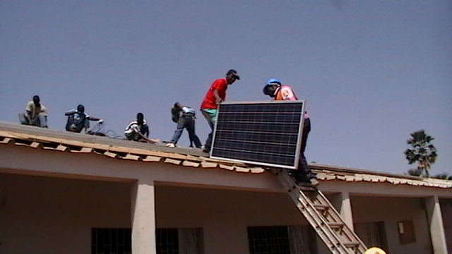 Moving modules to the roof