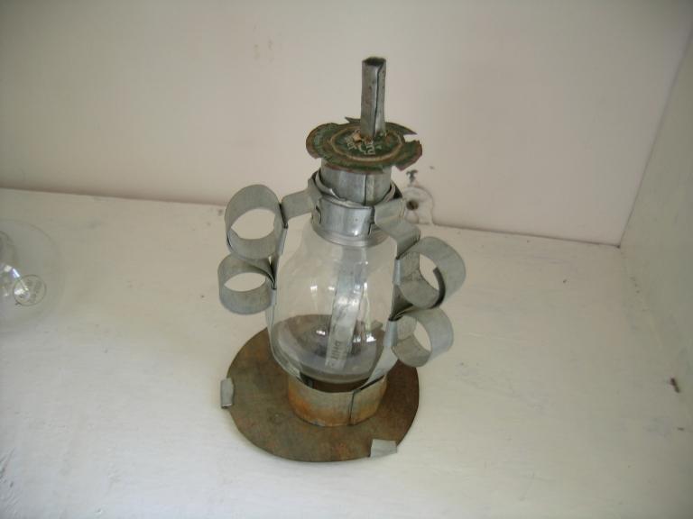 recycled light bulb kerosene lamp