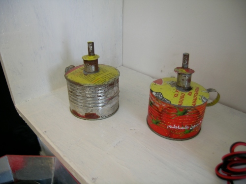 tin can kerosene lamps